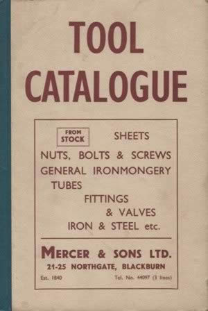 Tool Catalogue - Mercer & Sons