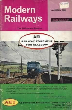 Modern Railways Magazine Jan 1963