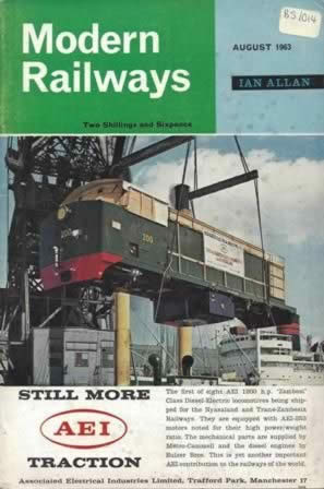 Modern Railways Magazine Aug 1963