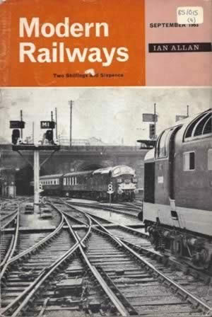 Modern Railways Magazine Sep 1963