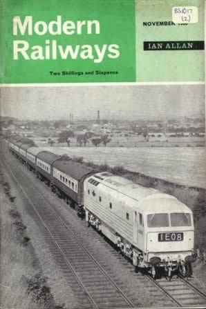 Modern Railways Magazine Nov 1963