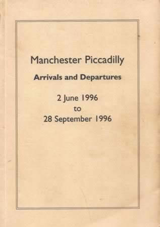 Booklet - Manchester Piccadilly Arrivals And Departures 2/6/66 - 28/9/66 (P/B)