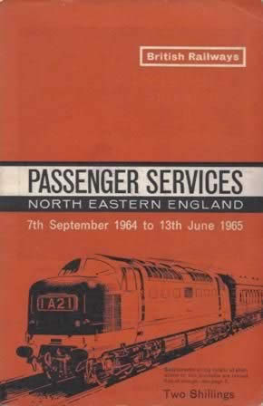Passenger Services Timetable North East England 7/9/64 - 13/6/65