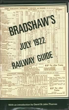 Bradshaw's Railway Guide - July 1922