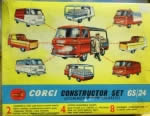 Corgi: Constructor Set: Milk Float With Crates And Milkman, Pick Up With Bench Seat, Van And Ambulance