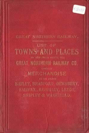 Great Northern Railway List Of Places And Towns 1890 (H/B)