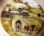 Into the Tunnel. Limited edition Ceramic Plate by John Chapman Bradex 26-W90-45.8