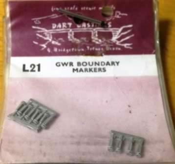 Dart Castings: OO Gauge: GWR Boundary Markers