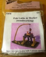 Langley: O Gauge: Pole Lathe & Worker (Woodworking)