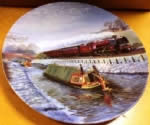 Late Autumn Crossing. Limited edition Ceramic Plate by B J Freeman Bradex 26-D8-20.1