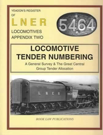 Yeadon's Register of LNER Locomotives: Appendix 2 - Locomotive Tender Numbering
