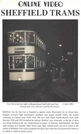 On Line Videos - Sheffield Trams
