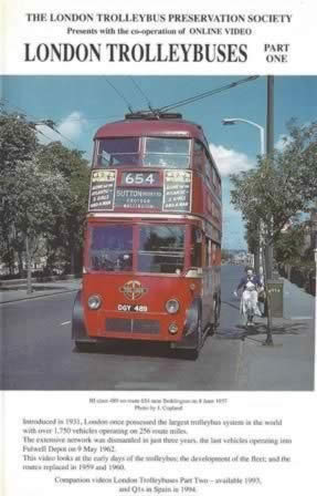 On Line Videos - London Trolley Buses Part 1