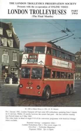 On Line Videos - London Trolley Buses Part 2