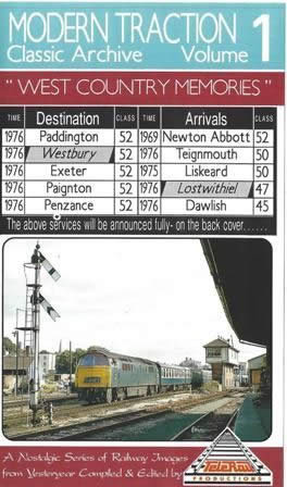 Modern Traction Class Archive - Volume 1: West Country Memories