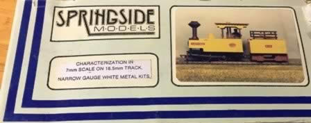 Springside: O Gauge: LAUTOKA - Engine & Tender, Characterization in 7mm Scale White Metal Kit