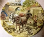 Past the Farmyard. Limited edition Ceramic Plate by John Chapman Bradex 26-W90-45.7