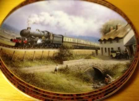 Railway Cottages. Limited edition Ceramic Plate by Don Breckon Bradex 26-D08-025.4