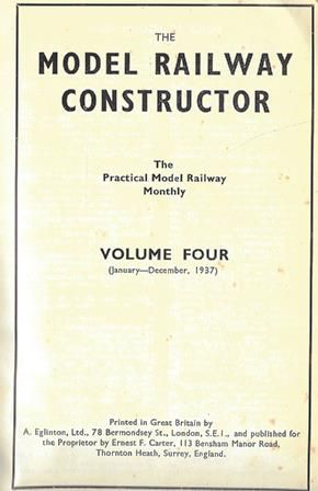 The Model Railway Constructor - Volume Four (January - December 1937)