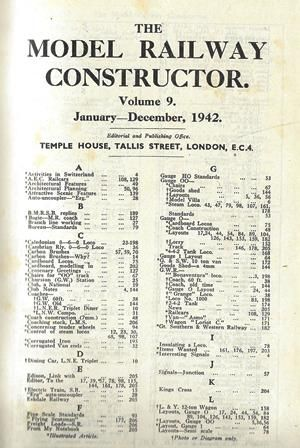 The Model Railway Constructor - Volume Nine (January - December 1942)