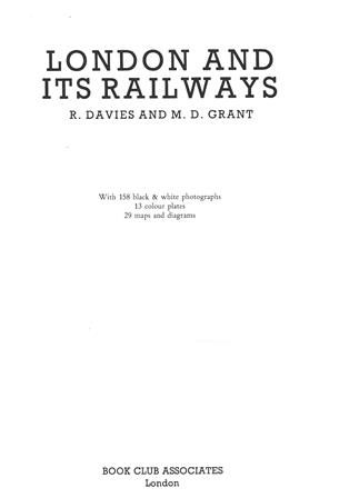 London And Its Railways