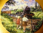 The Flying Scotsman. Limited edition Ceramic Plate by Paul Gribble Bradex 26-B10-1.1