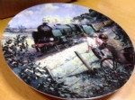 The Golden Arrow. Limited edition Ceramic Plate by Paul Gribble Bradex 26-B10-1.2